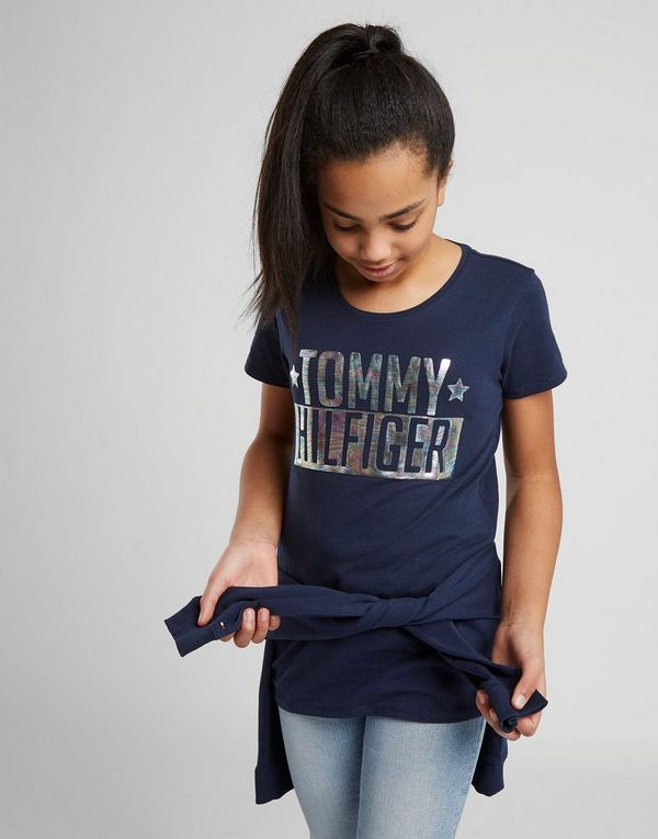 84c113f8d145f Tommy Hilfiger Girls  Foil Logo T-Shirt Junior