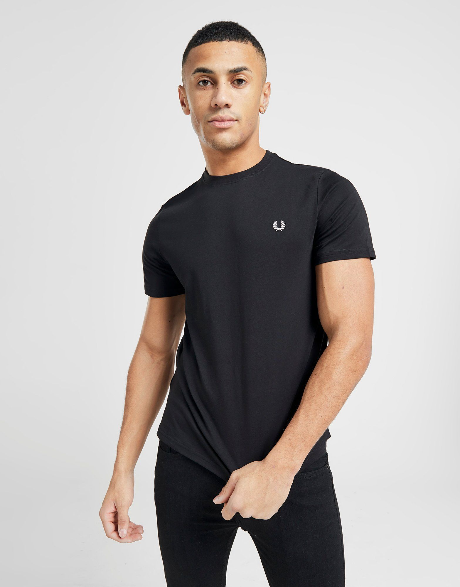 fred perry crew neck t shirt jd sports. Black Bedroom Furniture Sets. Home Design Ideas