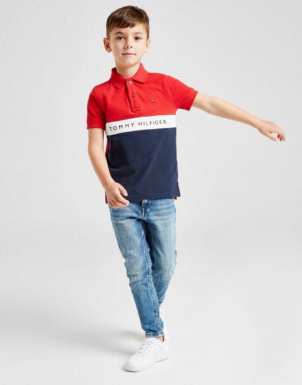 19c49c004 Tommy Hilfiger Colour Block Polo Shirt Children   JD Sports Ireland