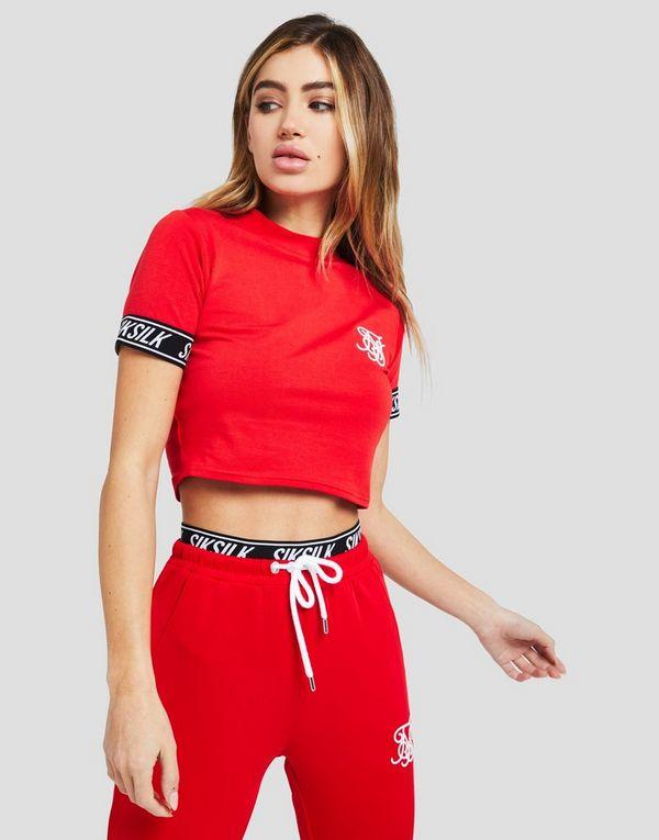 SikSilk Tape Sleeve Crop T-Shirt  3e3daf435aea