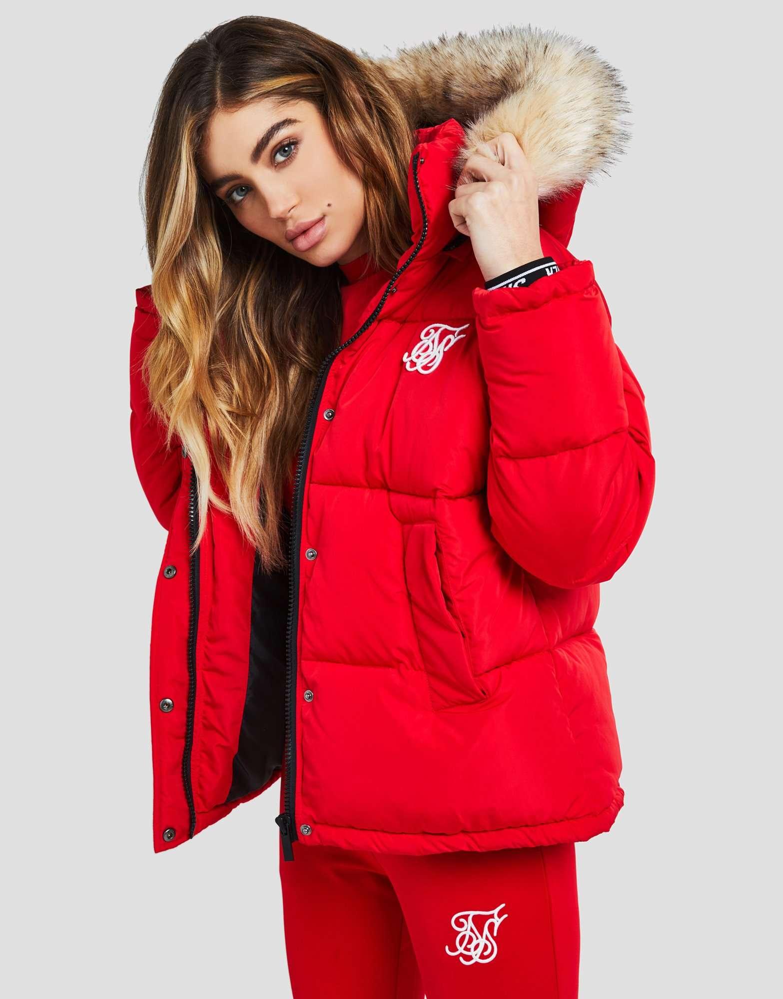 Siksilk Fur Hood Padded Jacket Jd Sports