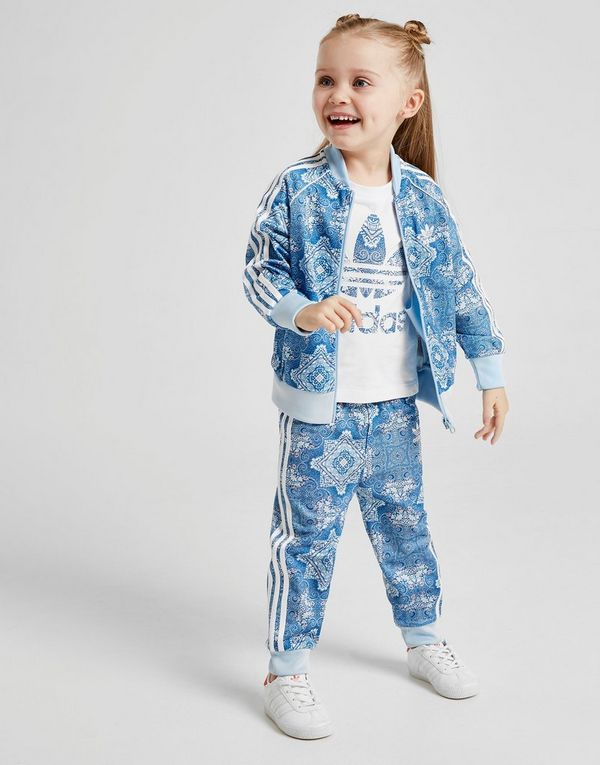 1f6af2ef0 adidas Originals Girls  All Over Print Superstar Tracksuit Infant ...