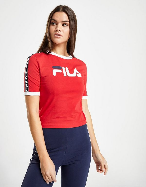 5b29b79c1b9 Fila Tape Crop Ringer T-Shirt