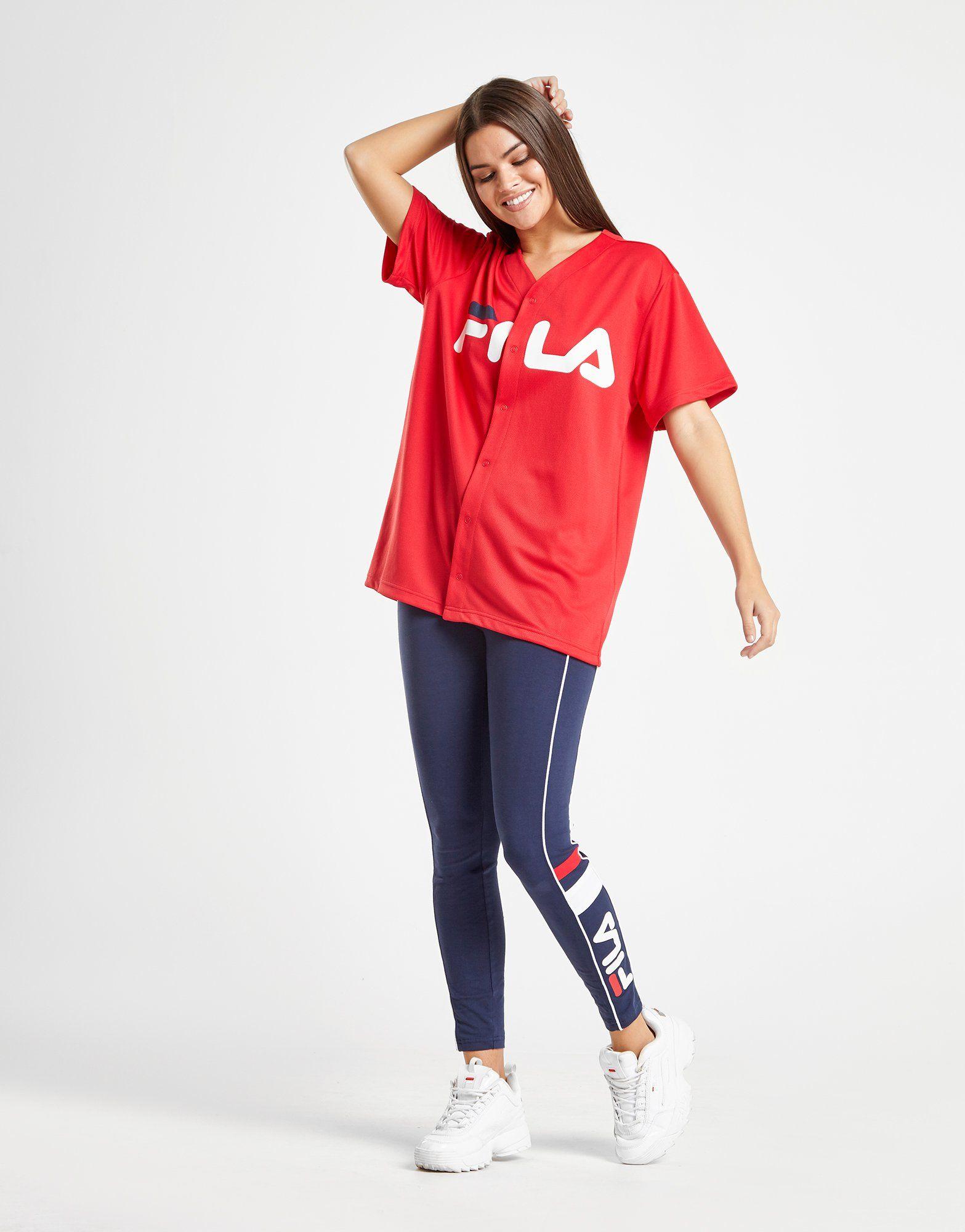 Fila Mesh Baseball T-Shirt
