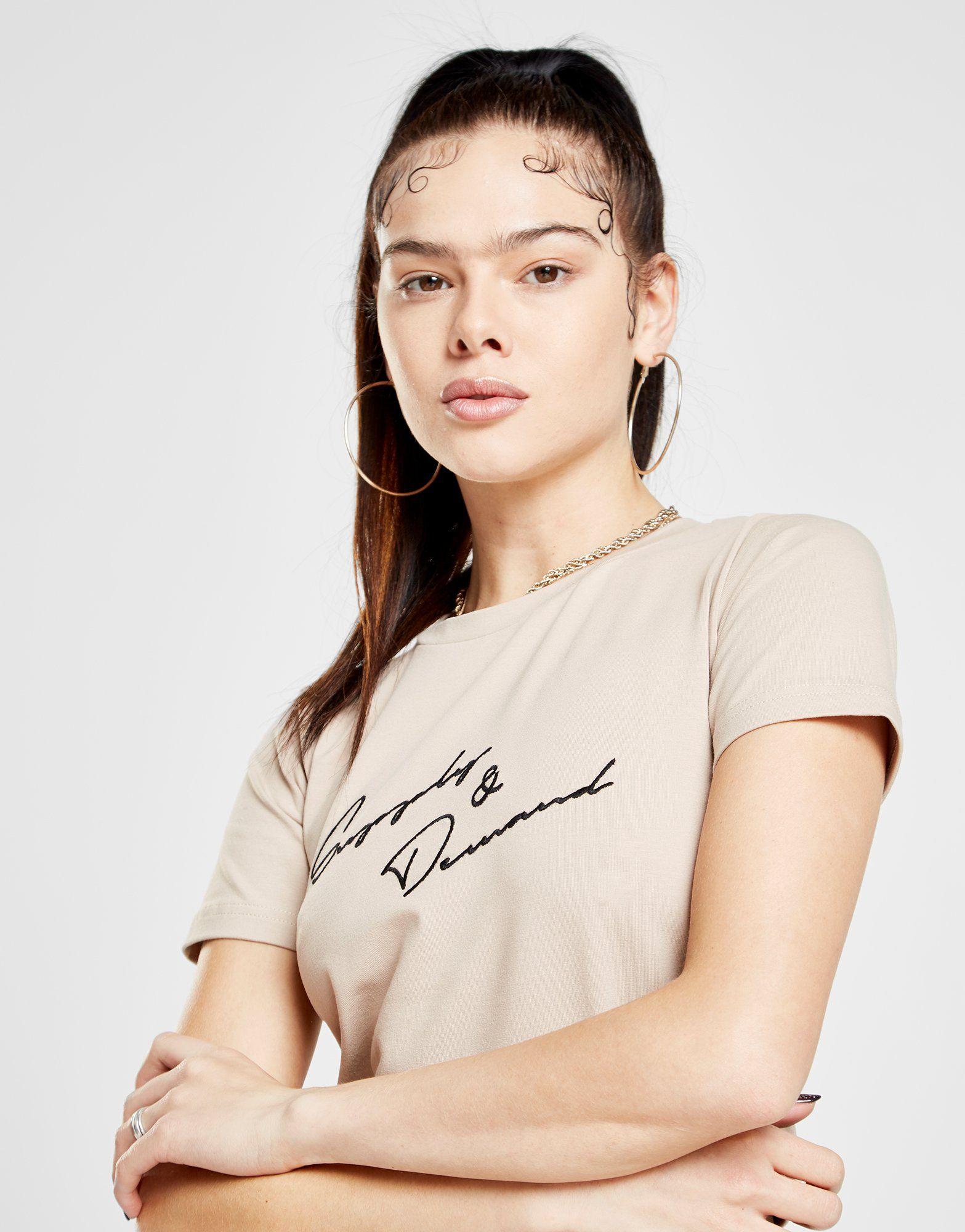 Supply & Demand Logo Crop T-Shirt