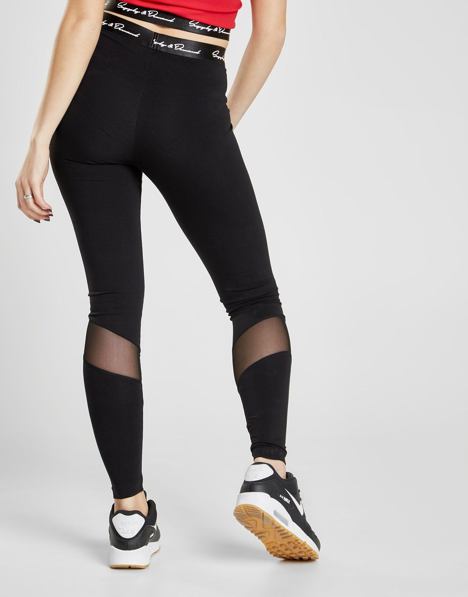 Supply & Demand Script Mesh Leggings