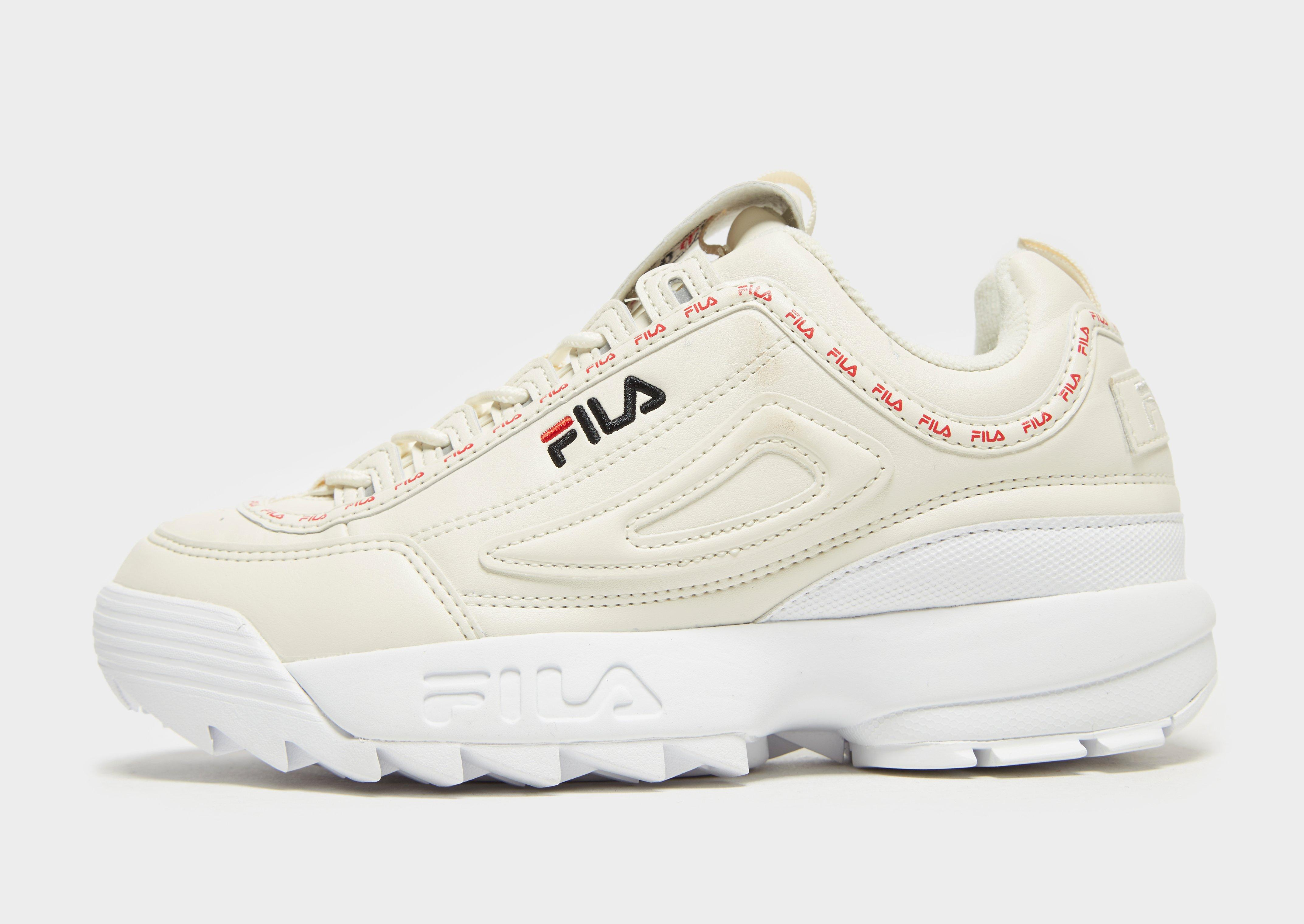 Details zu New Fila Women's Disruptor II Repeat Sneakers Cream