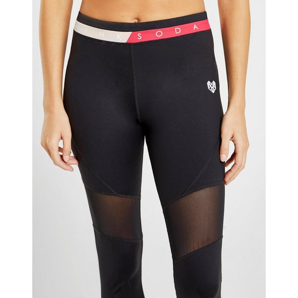 Jd Fitness Leggings: Pink Soda Sport Mesh Fitness Tights