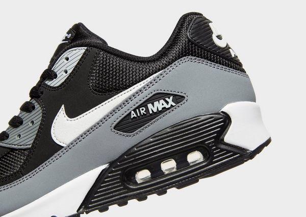 Herren Nike Air Max 90 Essential Leder Sportlich Schwarz