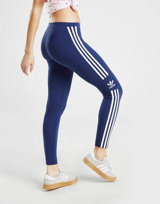 adidas originals Track Denim Leggings Broeken Blauw Dames