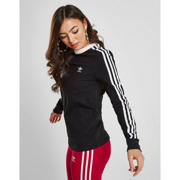 adidas Originals 3-Stripes Long Sleeve California T-Shirt Dames