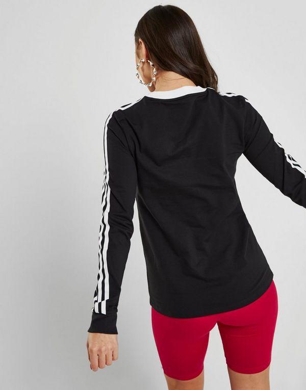 c250240e44496 adidas Originals T-shirt manches longues 3-Stripe California Femme ...