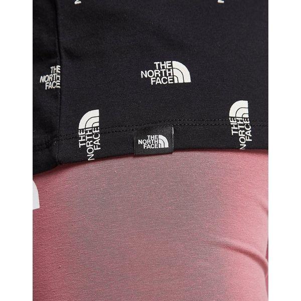 The North Face All Over Print Logo Boyfriend T-Shirt Dames