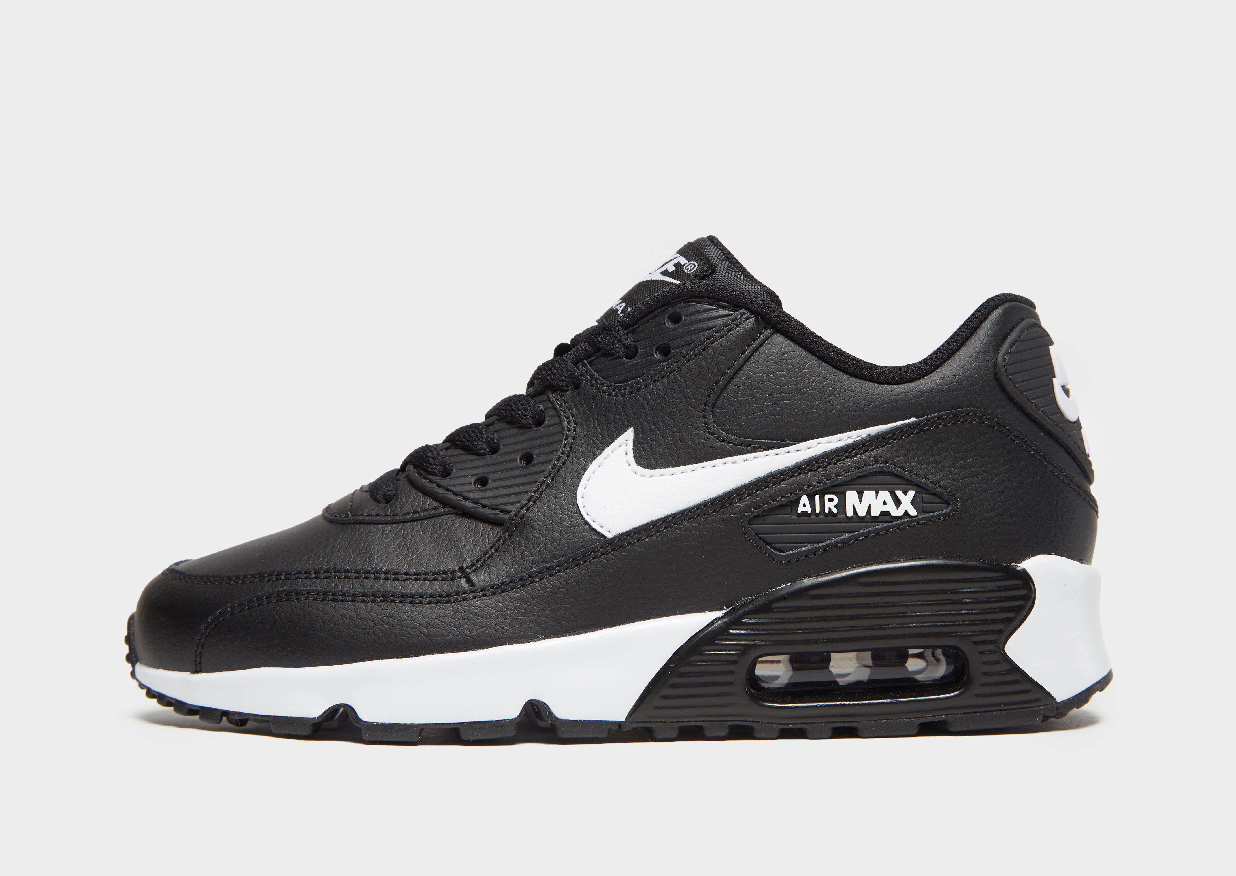 c1e74b39f6 kids black nike air max 90 mesh junior trainers available via ...