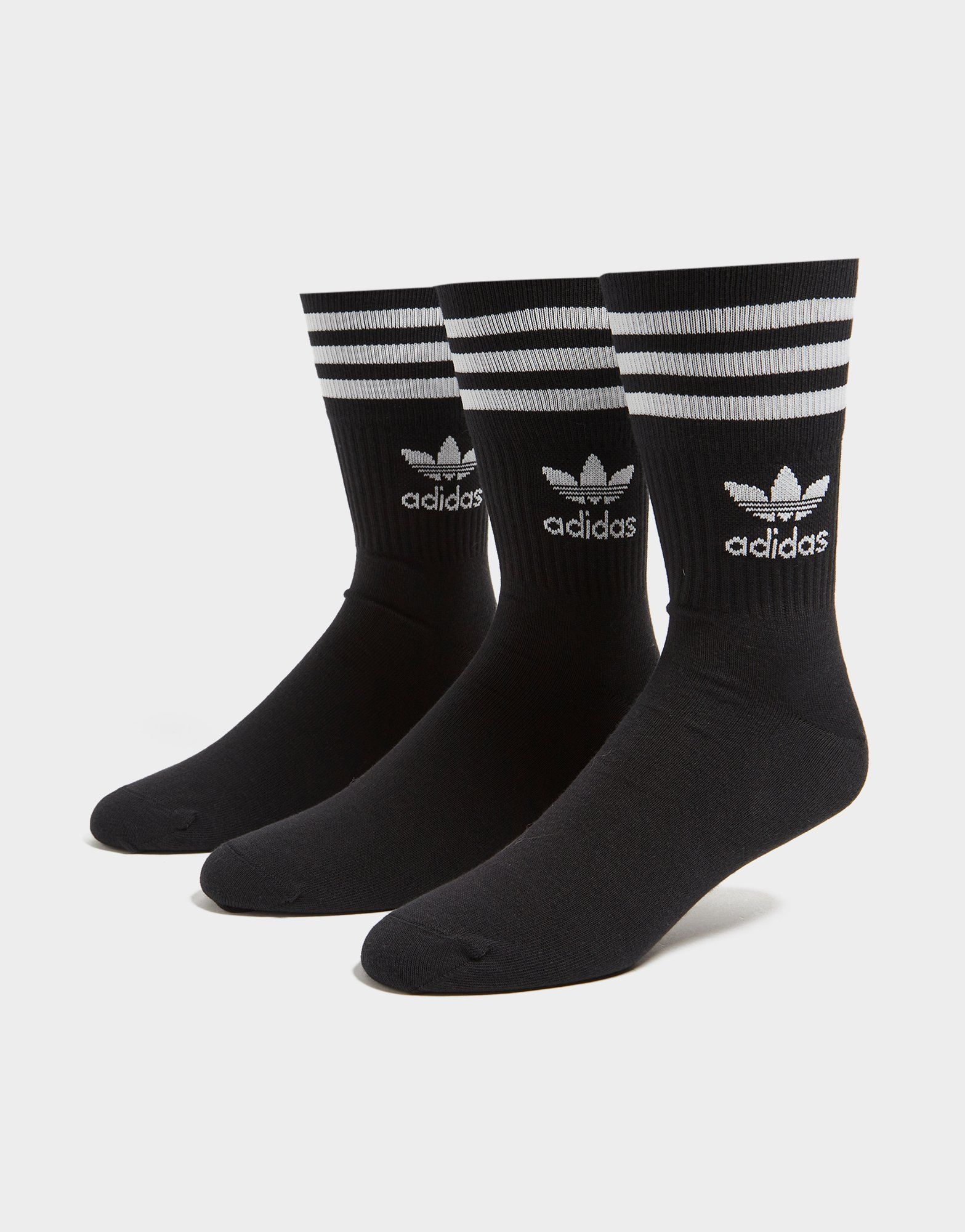 adidas Originals 3 Pack Solid Crew Socks