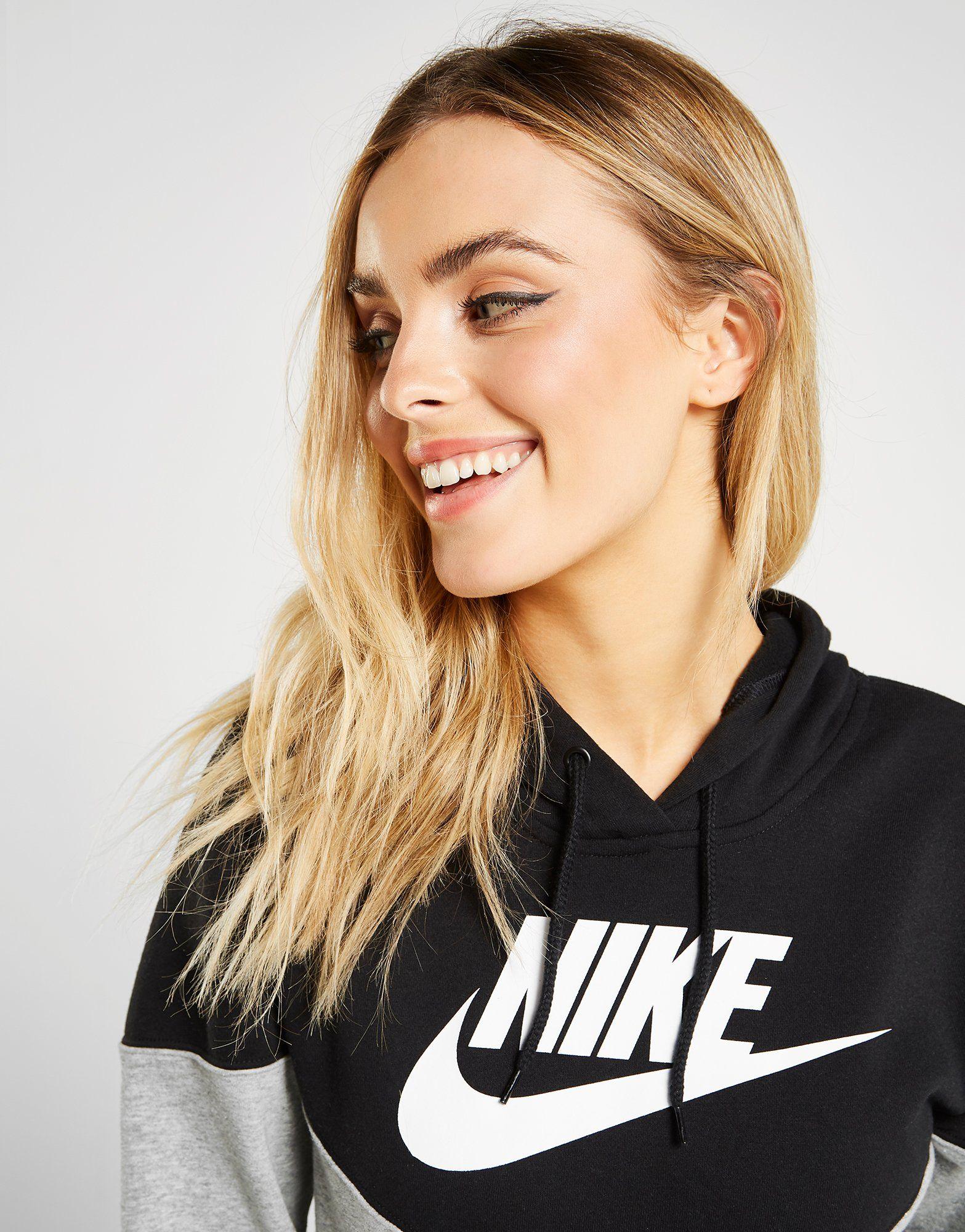 Nike Heritage Colour Block Overhead Hoodie