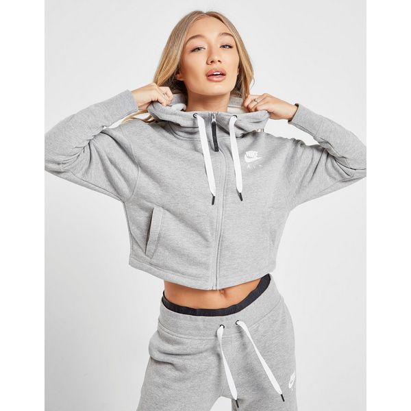 Nike Air Crop Full Zip Hoodie Dames