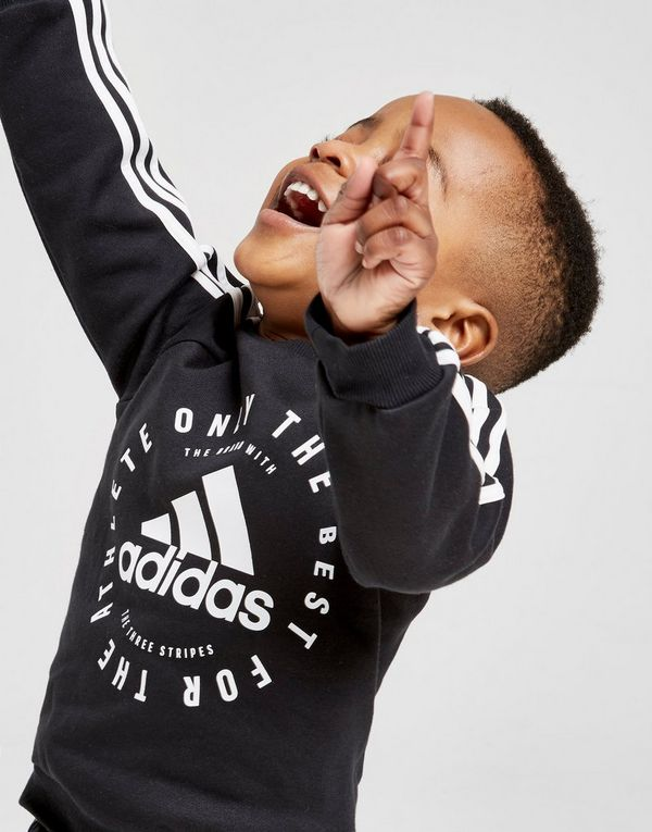 6d22cb1c0 adidas Badge of Sport 3-Stripes Crew Tracksuit Infant
