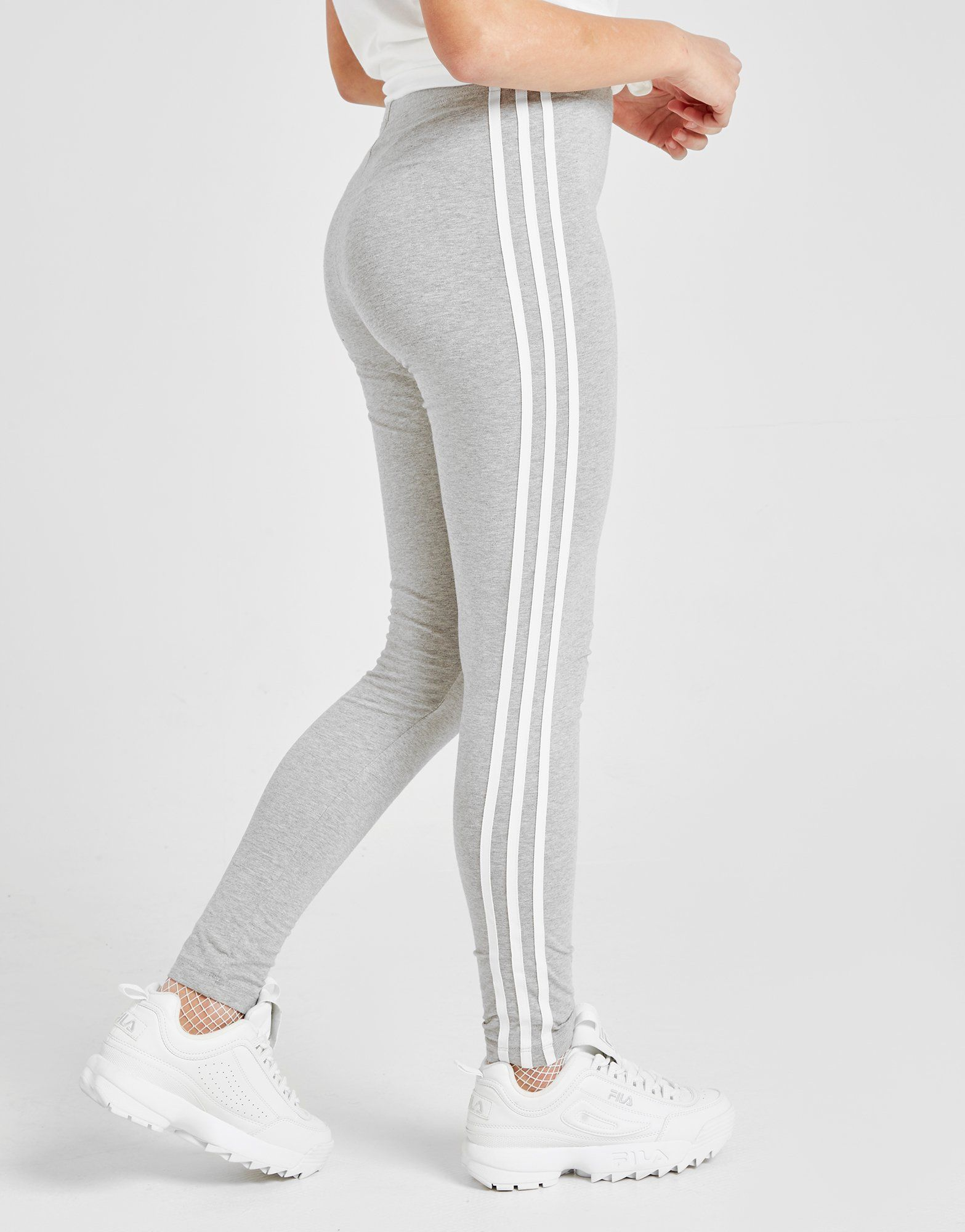 adidas Originals Girls' 3-Stripes Leggings Junior