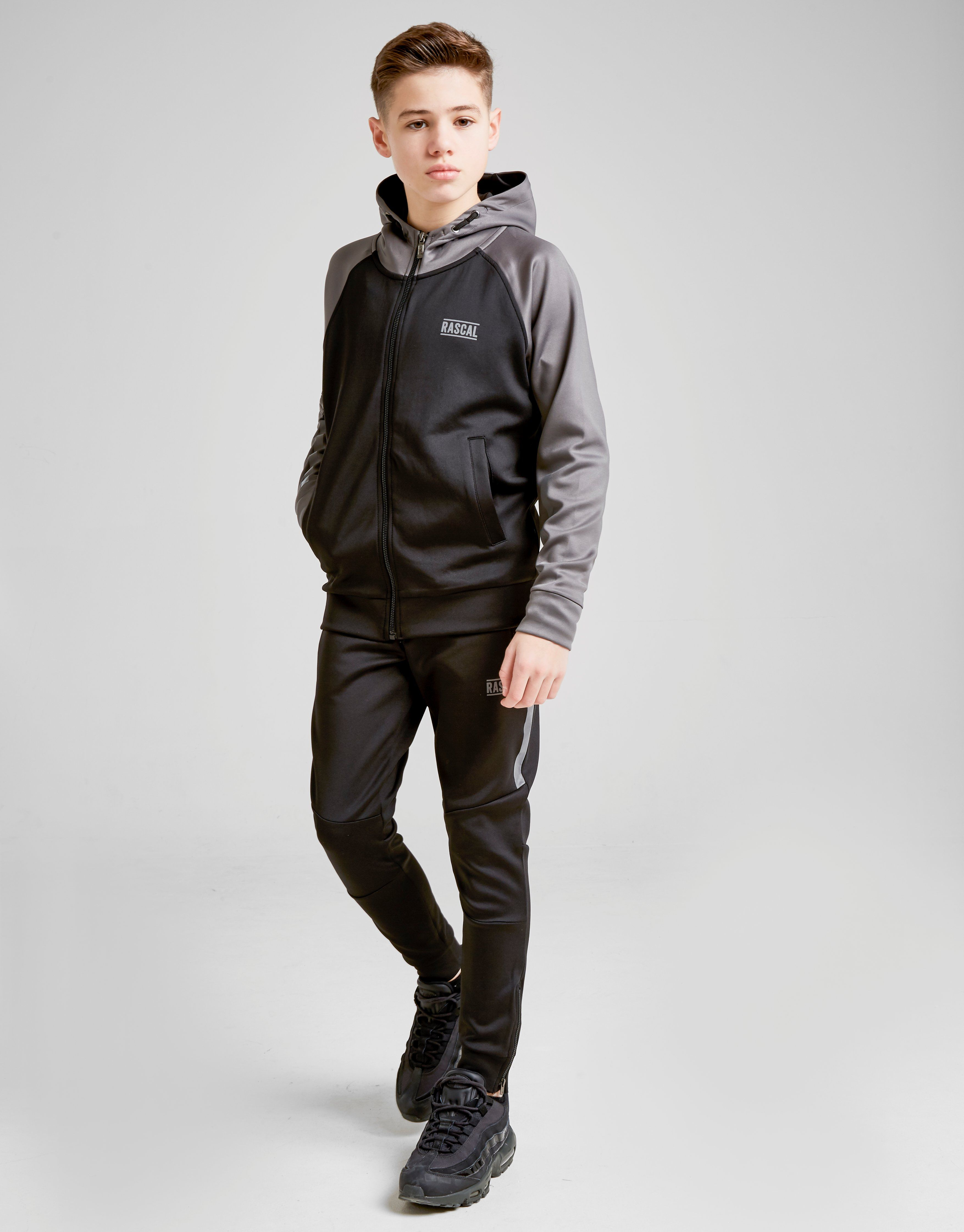 Rascal Mission Poly Colour Block Hoodie Junior
