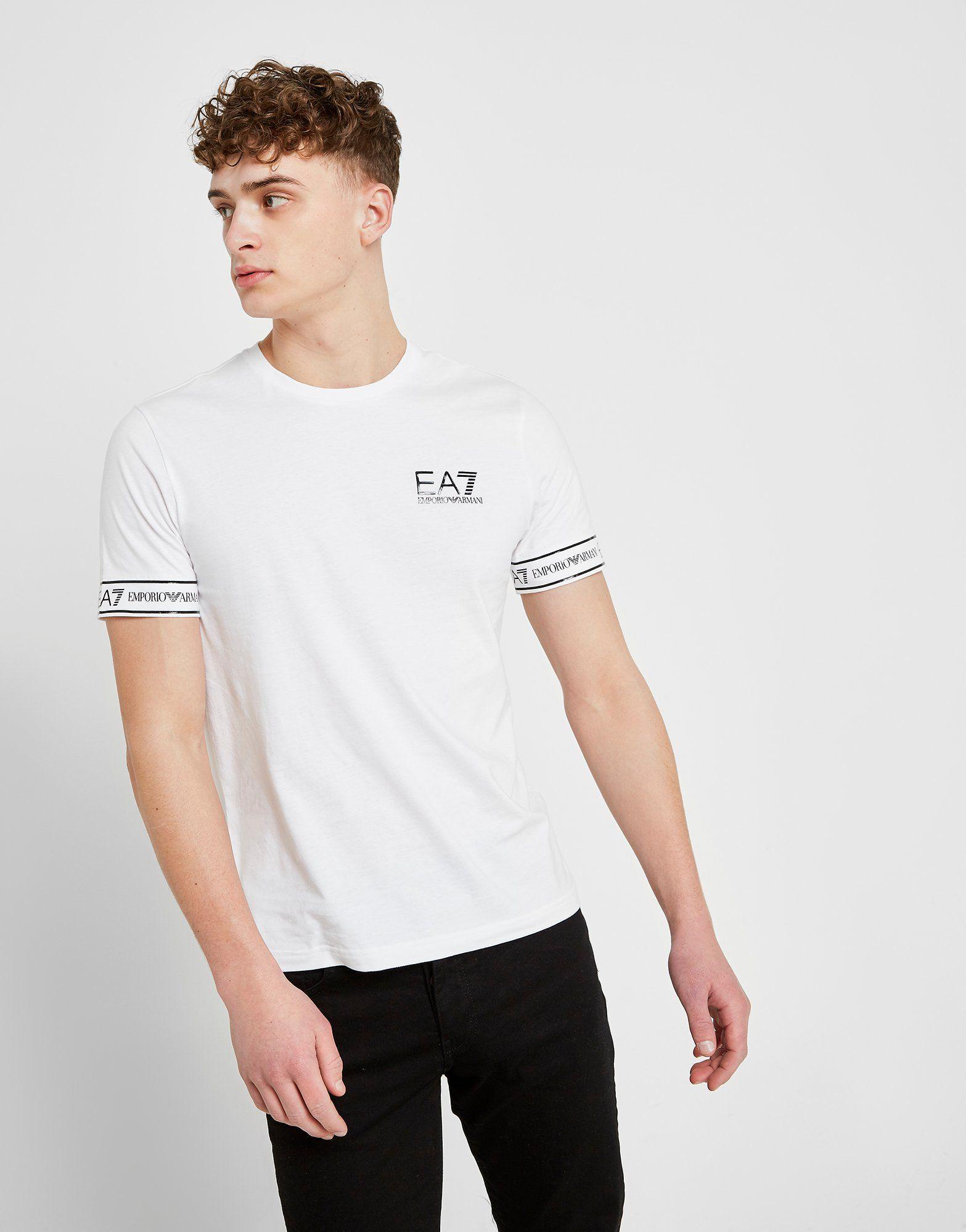 5bbae622bca Emporio Armani EA7 Short Sleeve Tape T-Shirt