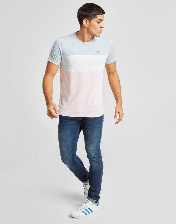 Lacoste Tri Colour Block T-Shirt Heren