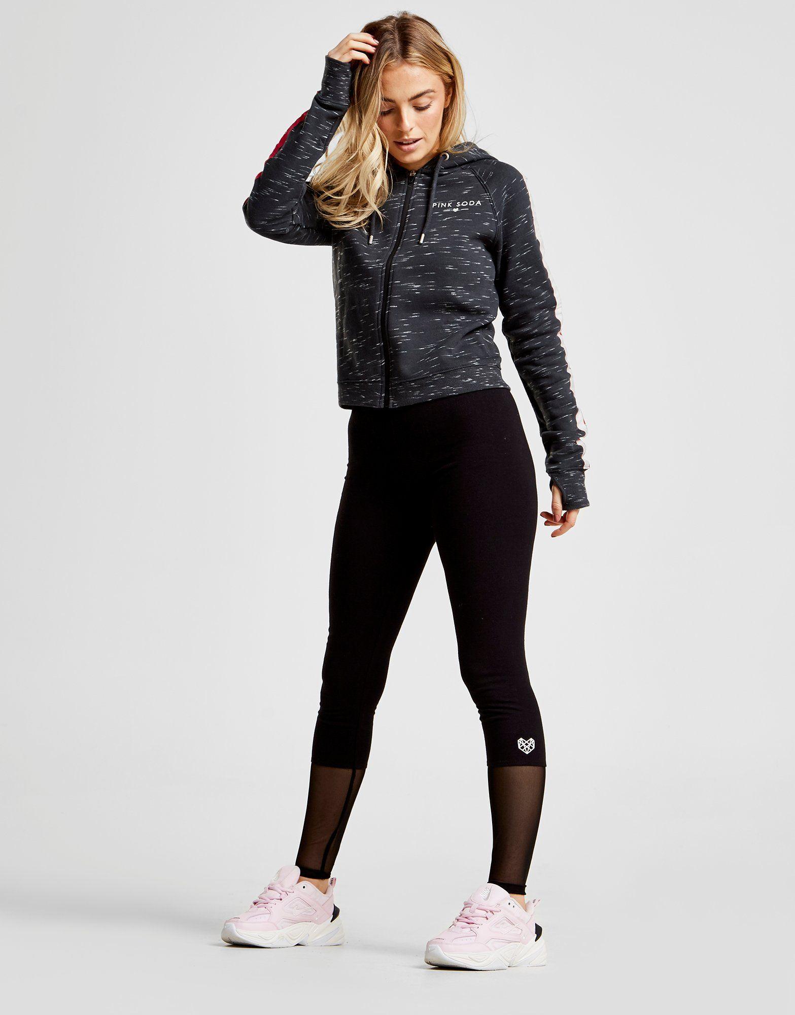 Pink Soda Sport Mesh Block Lifestyle Leggings