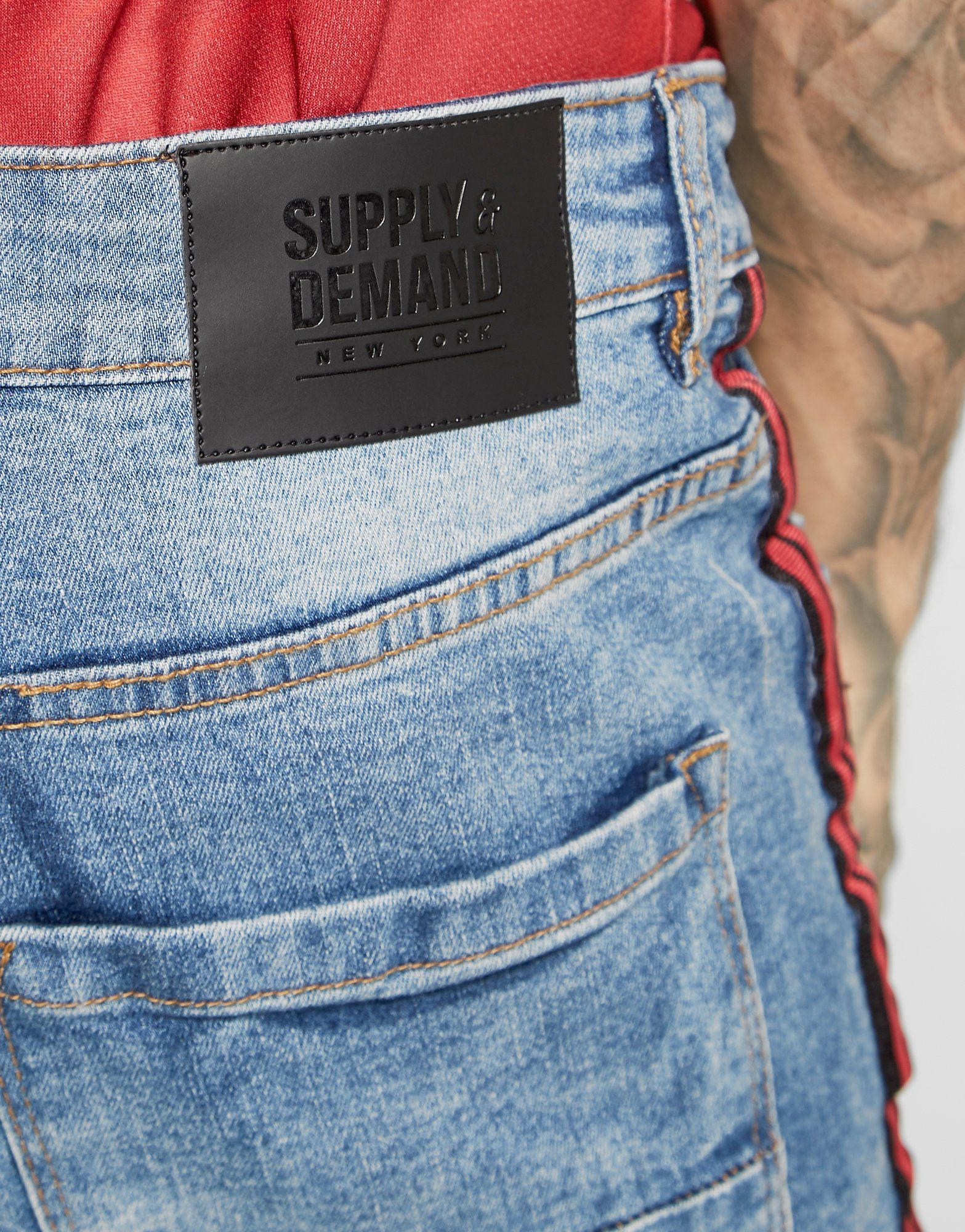 Supply & Demand Bailey Taped Skinny Jeans