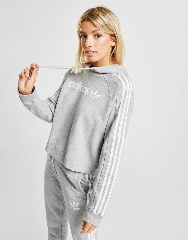 adidas Originals 3-Stripes Linear Overhead Huppari Naiset  5f6da75fcf