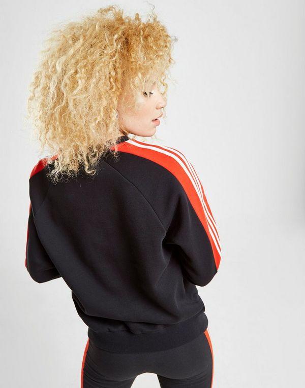 a38d3fb783ae0 adidas Originals Sweat 3-Stripes Panel Crew Femme