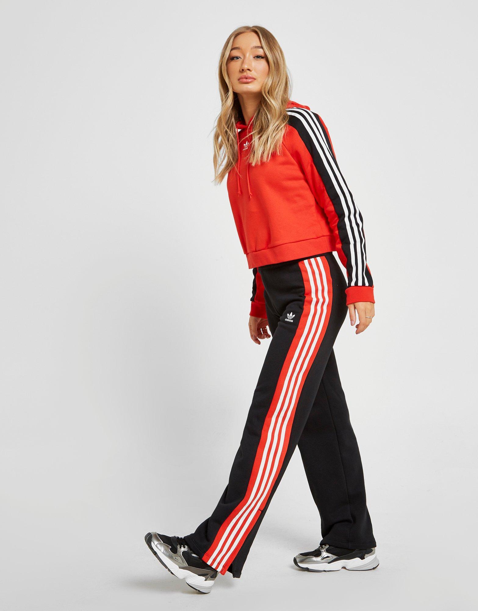 0934ca34ada5 New adidas Women s Originals Running Wide Leg Joggers Black