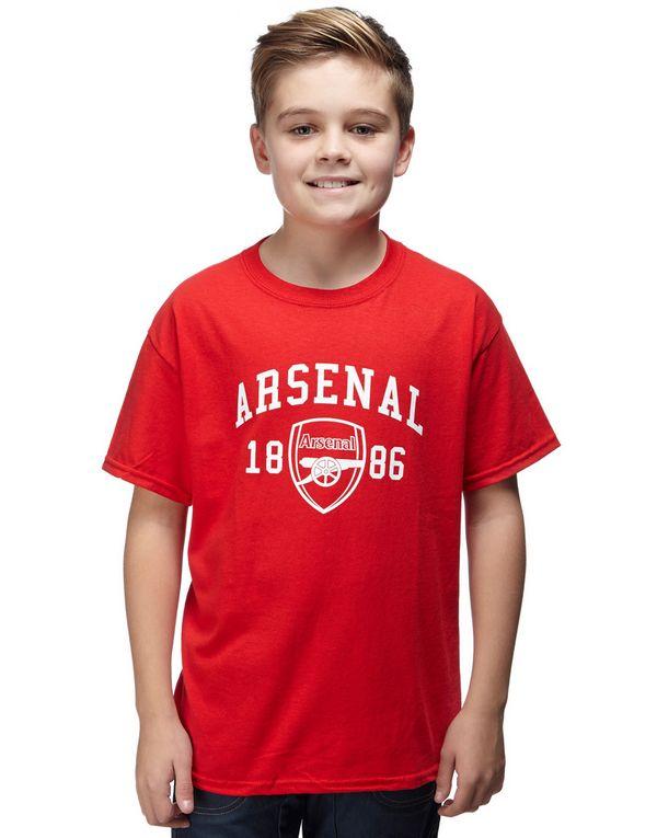 Official Team Arsenal 1886 T Shirt Junior Jd Sports