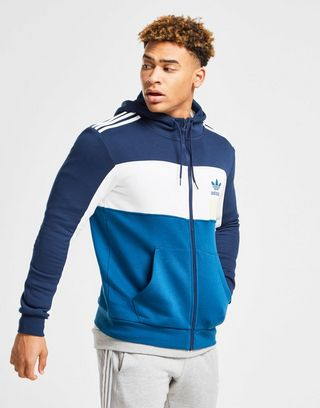 Adidas Originals Gray Id96 Full Zip Hoodie for men