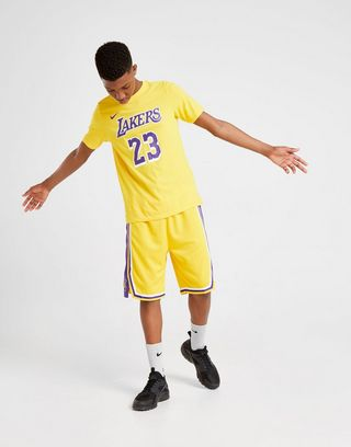 more photos 344d9 24680 Nike NBA Lebron Los Angeles Lakers T-Shirt Junior | JD ...
