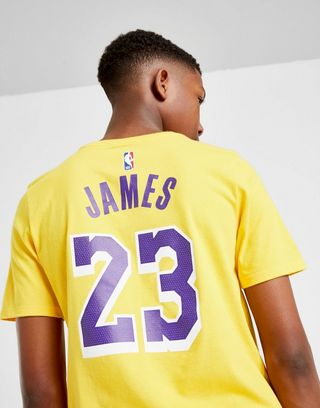 more photos 344d9 24680 Nike NBA Lebron Los Angeles Lakers T-Shirt Junior | JD ...