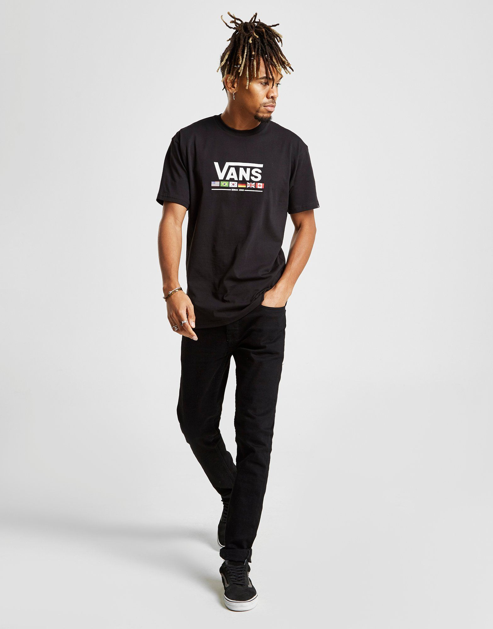 Vans T-shirt Flag Central Logo Homme