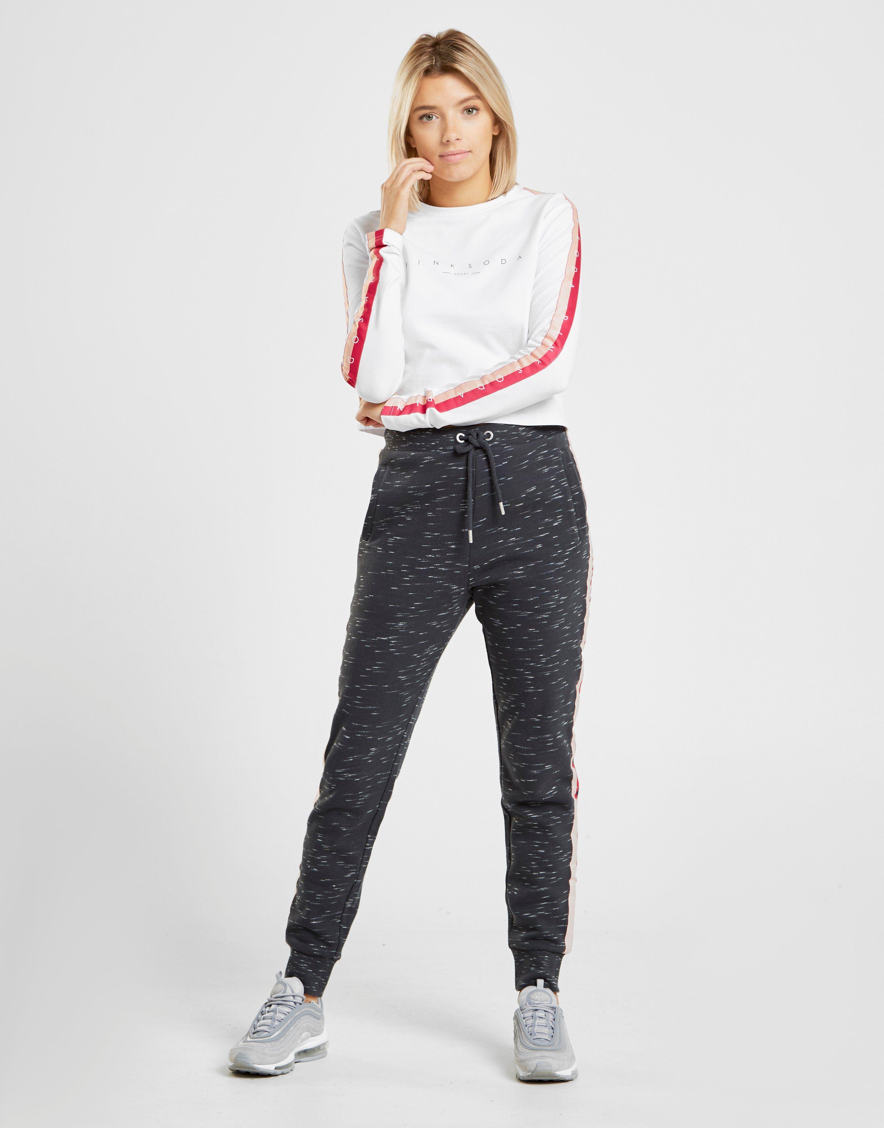 Pink Soda Sport Long Sleeve Tape T-Shirt