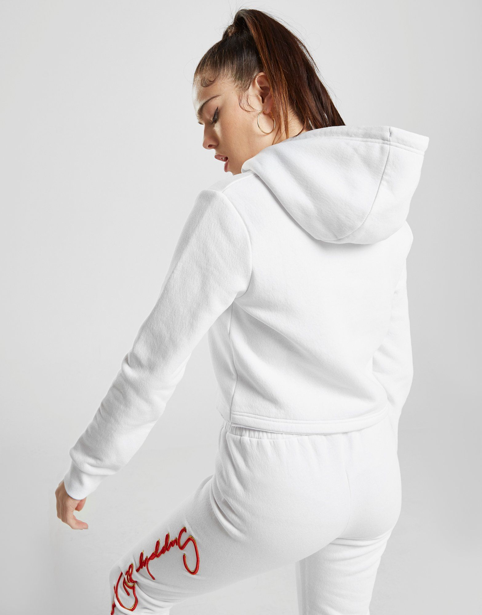 Supply & Demand Script Logo Crop Hoodie