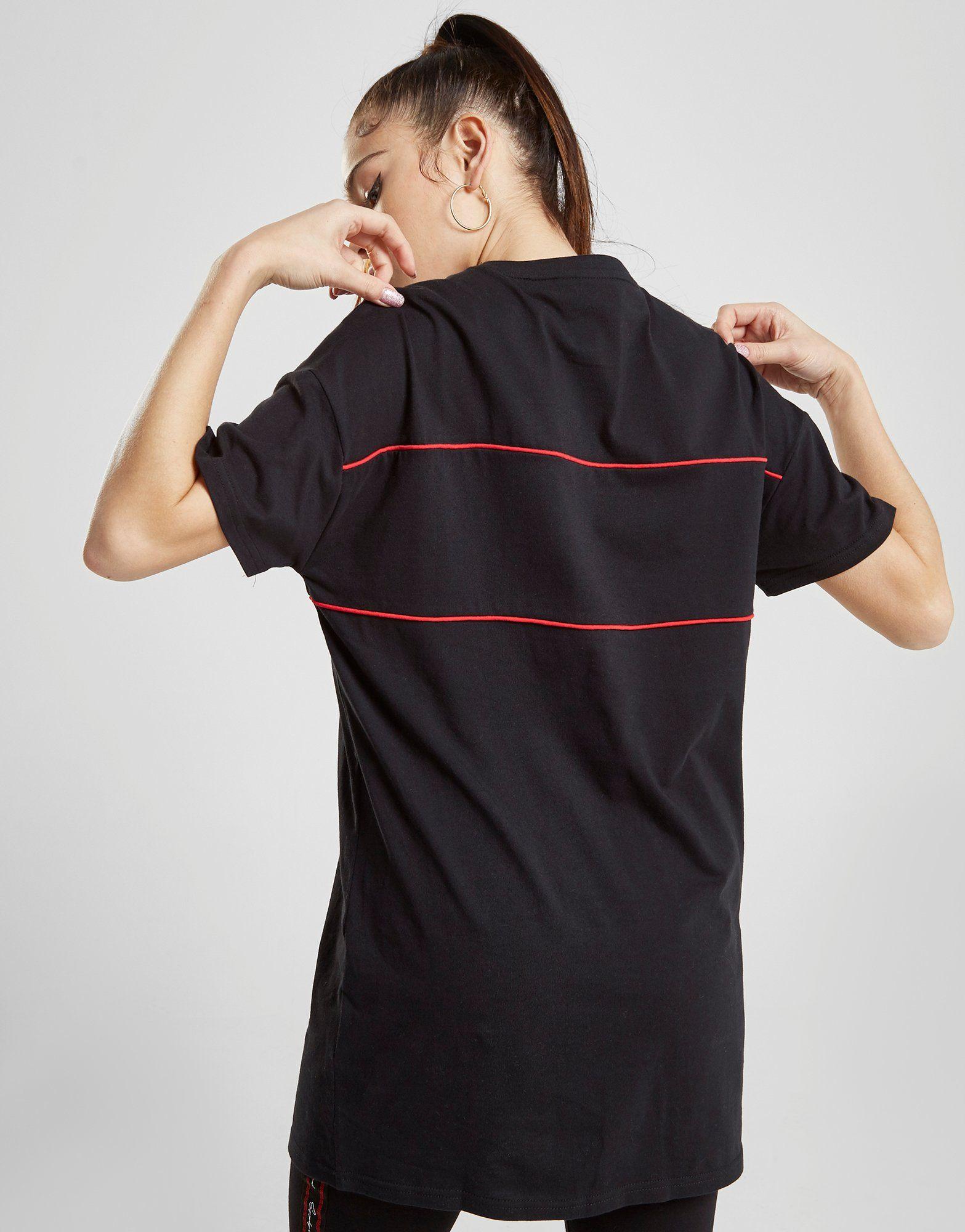 Supply & Demand Script Piping Boyfriend T-Shirt