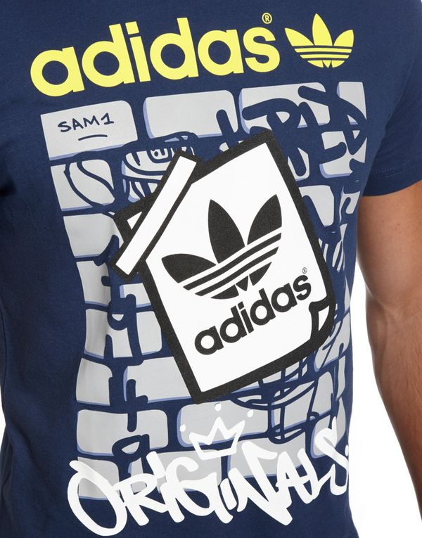 adidas originals trefoil graffiti t shirt