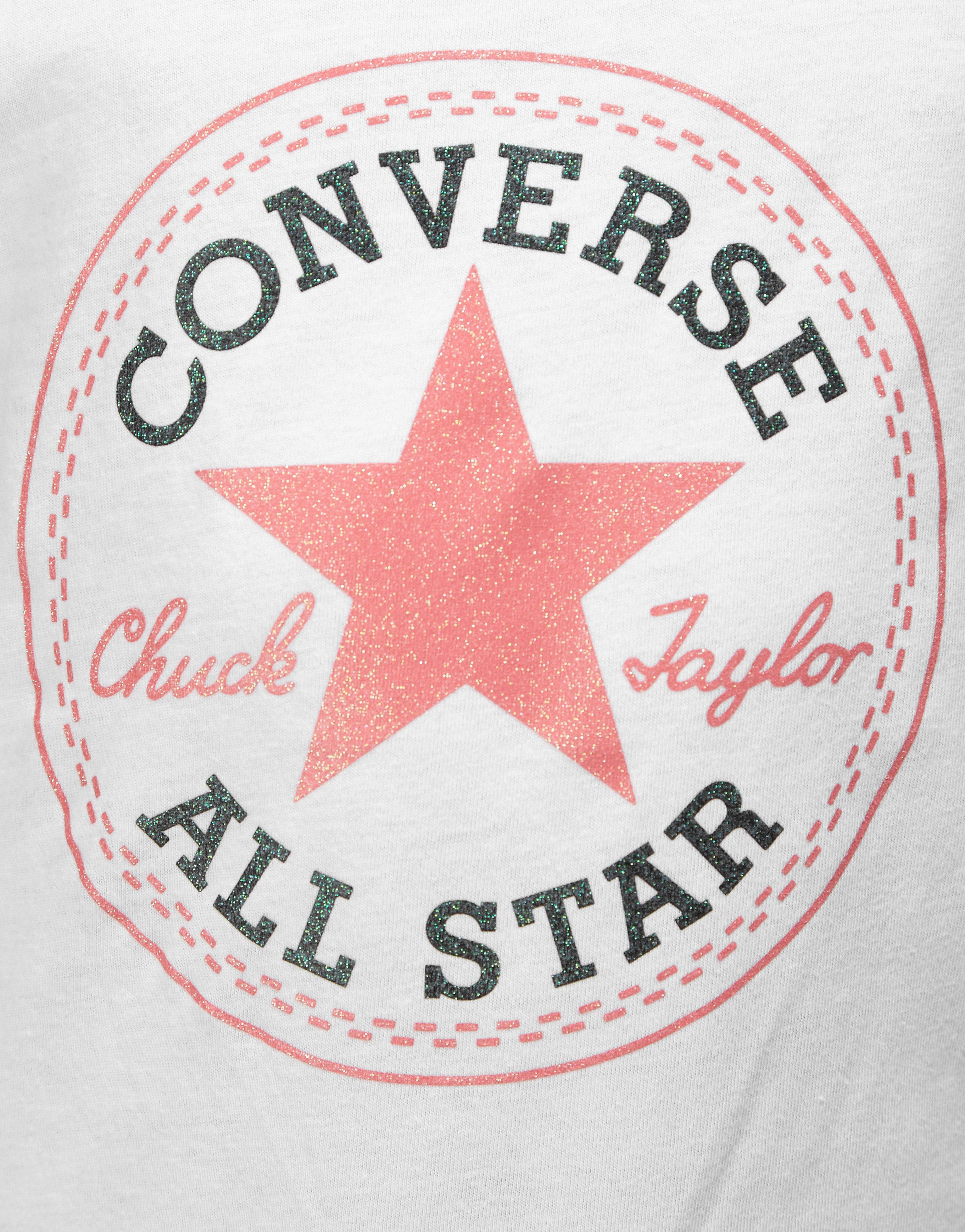 Converse Girls Chuck Logo T-Shirt Junior