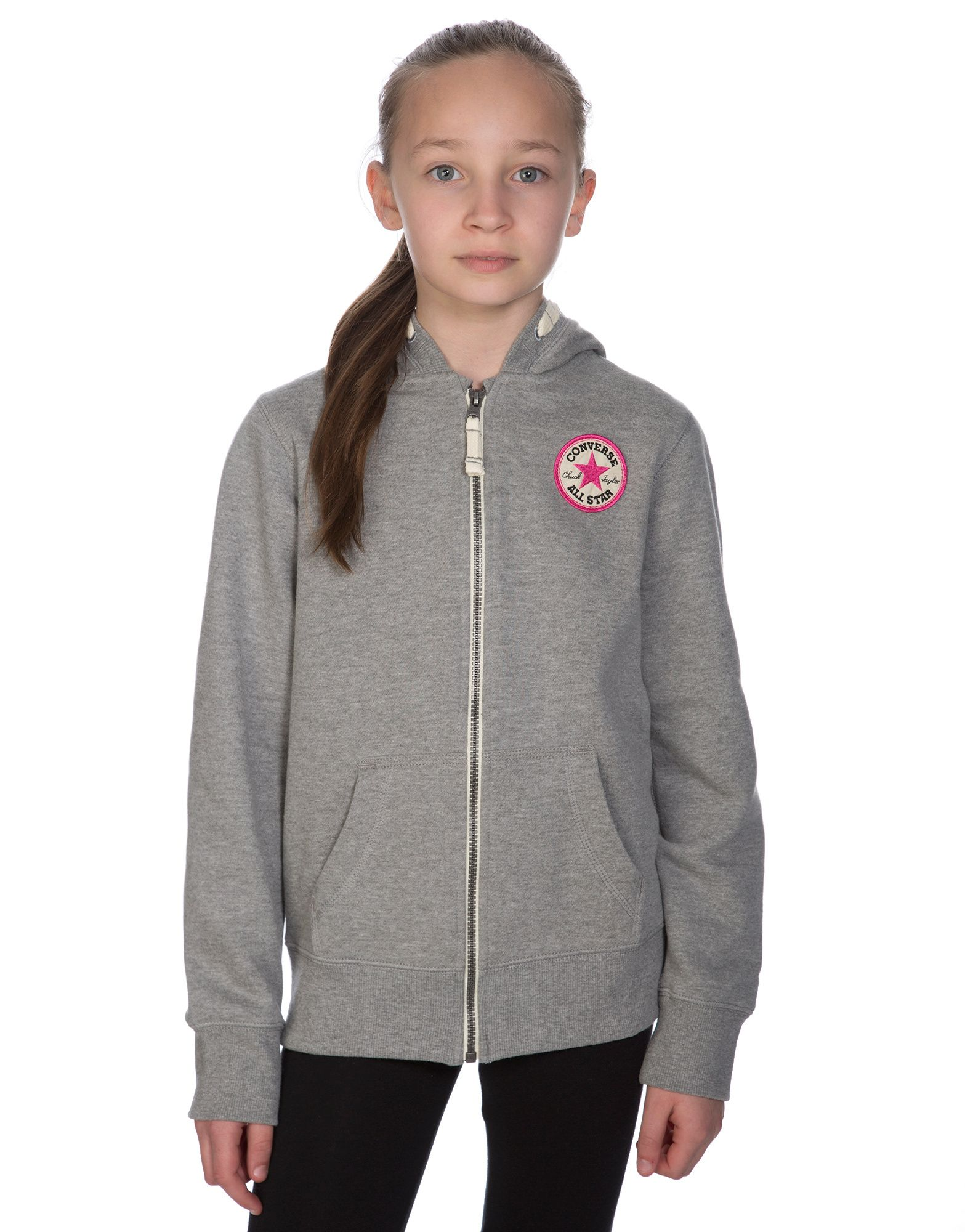 Converse Girls Chuck Full Zip Hoody Junior