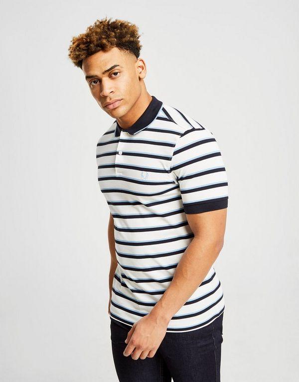 c8baafb266 Fred Perry Stripe Pique Short Sleeve Polo Shirt