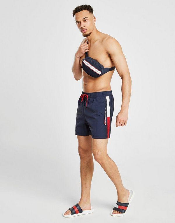 0b382e5dcae65 Tommy Hilfiger Solid Flag Swim Shorts   JD Sports Ireland