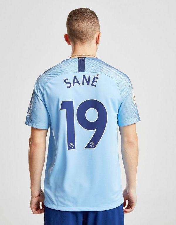 d0a6a1aa1ec Nike Manchester City FC 2018 19 Sane  19 Home Shirt