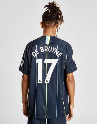 new style 24117 97284 Nike Manchester City 2018/19 De Bruyne #17 Away Shirt | JD ...