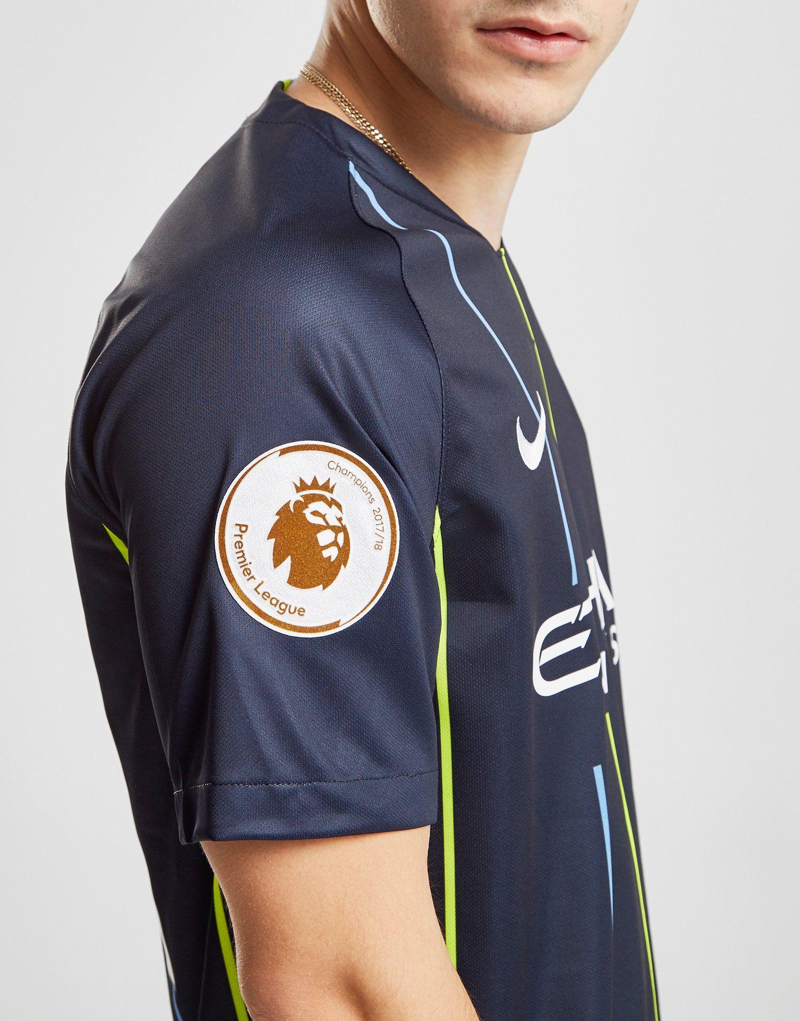 Nike Manchester City FC 2018/19 Silva #21 Away Shirt