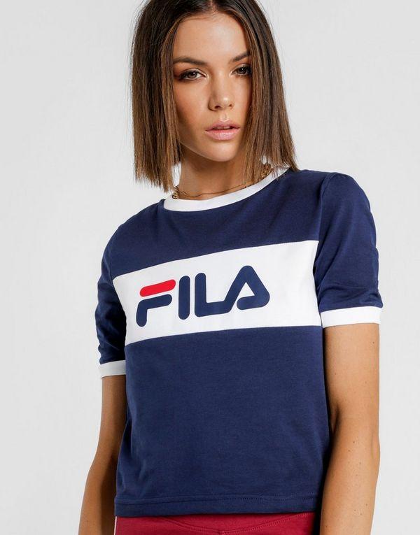 9974b794301 FILA Crop Ringer T-Shirt