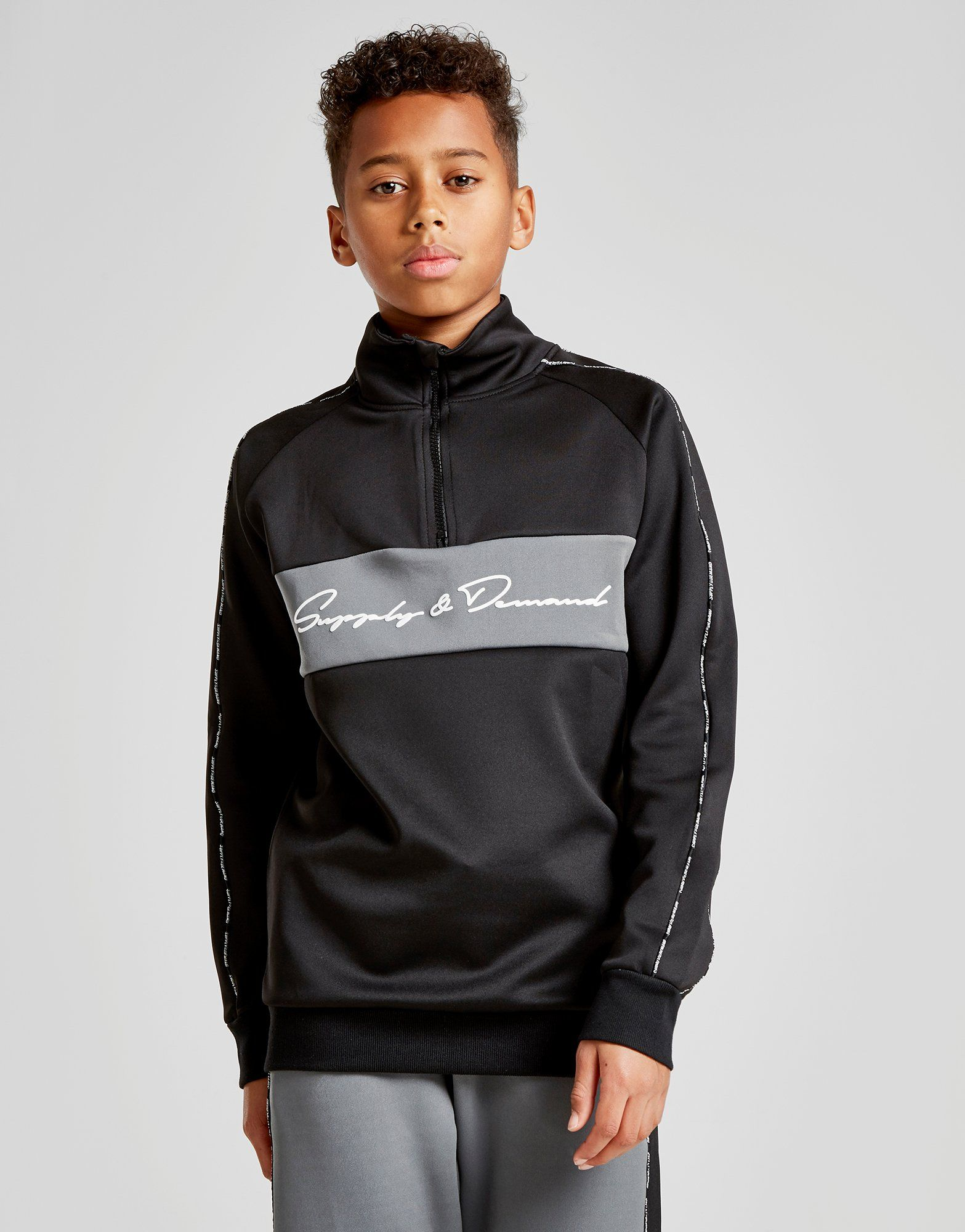 Supply & Demand 1/2 Zip Panel Track Top Junior