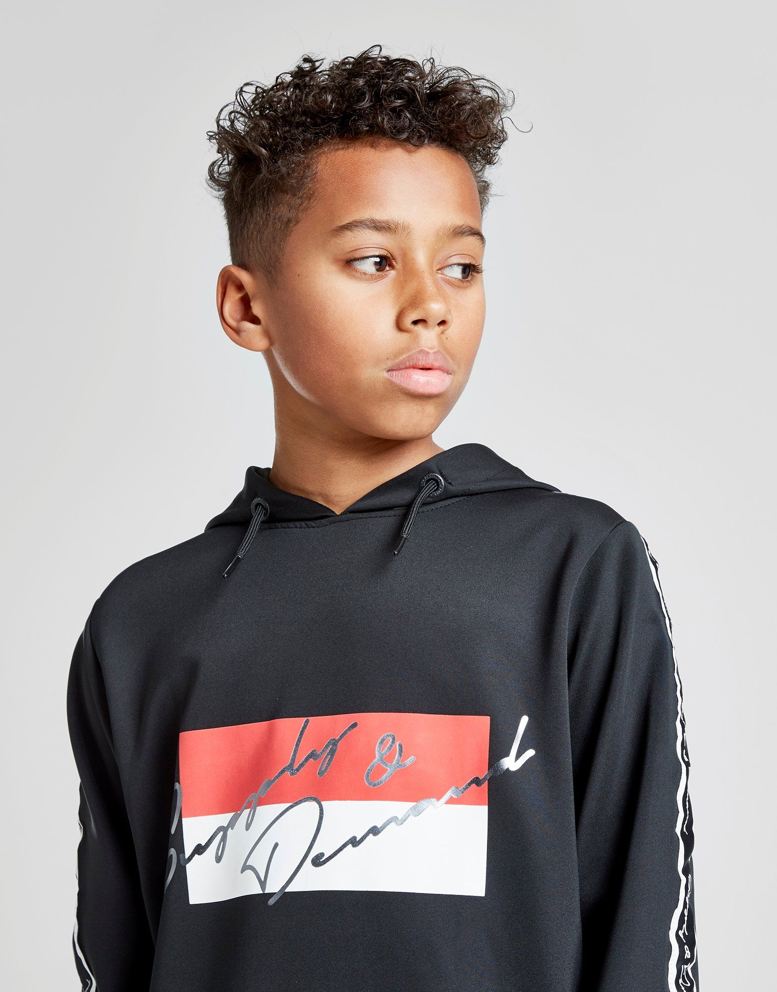Supply & Demand Script Tape Overhead Hoodie Junior